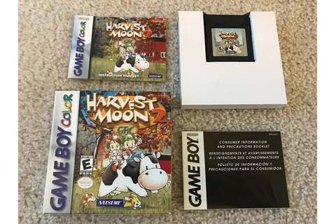 Harvest Moon GBC 2 (Nintendo Game Boy Color, 2000) GBC ...