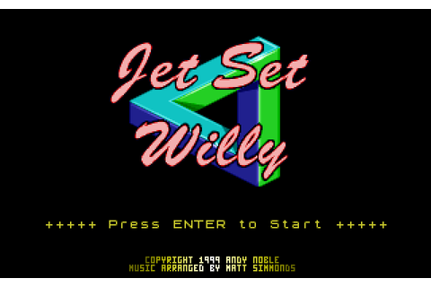 Play Jet Set Willy online - PlayDOSGames.com
