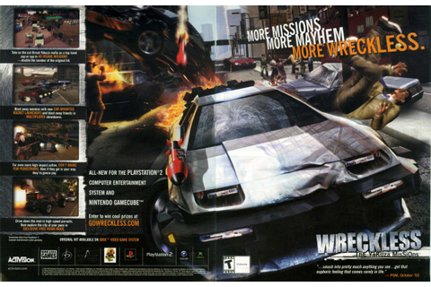 "Video Game Print Ads — ""Wreckless: The Yakuza Missions ..."