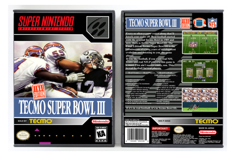 Tecmo Super Bowl III: The Final Edition - Vertical Style ...
