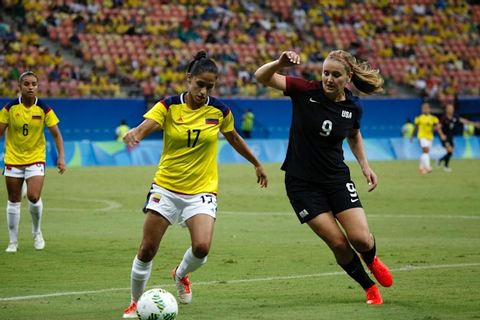 USA women's football Olympic winning streak halted by Colombia