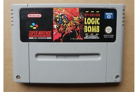 Logic Bomb SNES Game Cartridge PAL Nintendo Version | eBay
