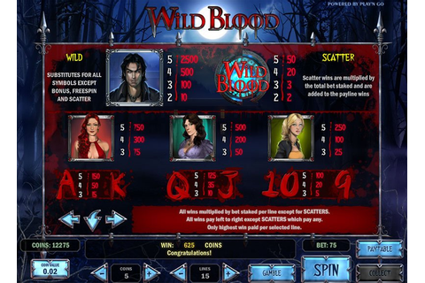 Wild Blood Slot - Free Play | DBestCasino.com