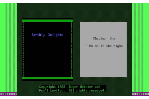Download Earthly delights adventure for DOS (1984 ...
