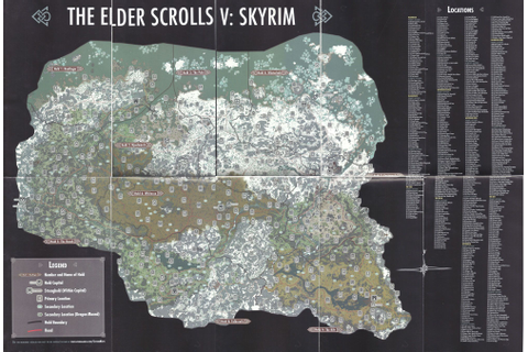 Elder Scrolls Skyrim Dragon Shouts Locations Map | Scrolls ...