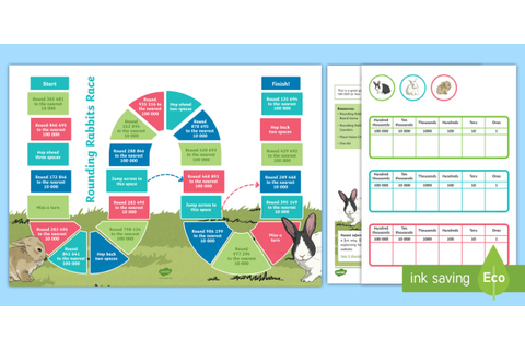 Rounding Rabbits Maths Board Game