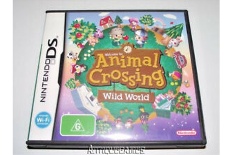 Animal Crossing Wild World Nintendo DS 3DS Game *Complete*