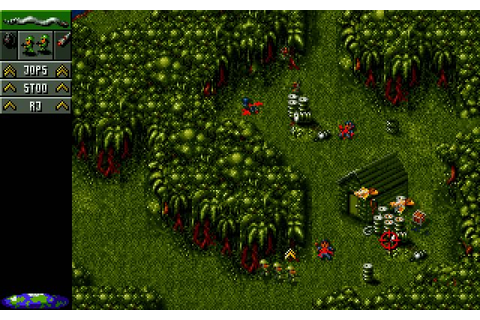 Cannon Fodder strategy for DOS (1994) - Abandonware DOS