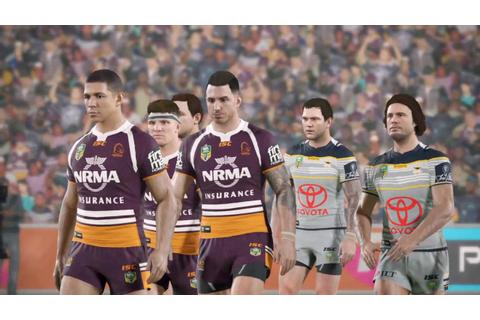 Rugby League Live 4 - My First Game! On Legend... - YouTube