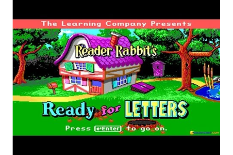 Reader Rabbit's Ready for Letters gameplay (PC Game, 1993 ...