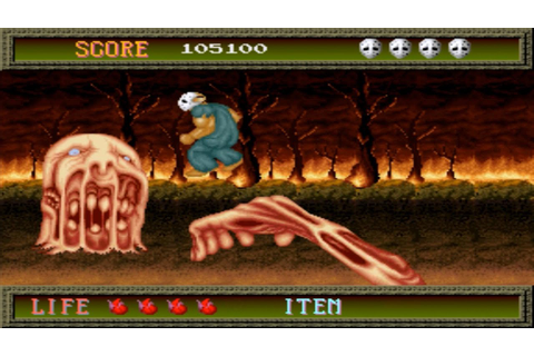 Splatterhouse 1 Arcade Gameplay Playthrough longplay - YouTube