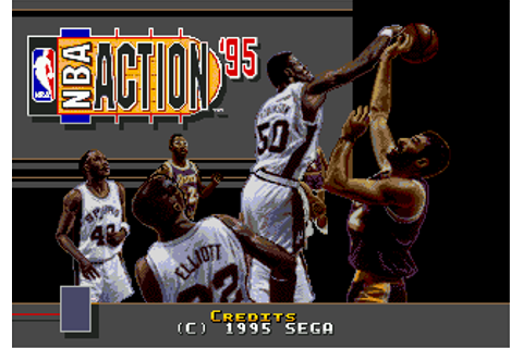 Play NBA Action '95 Starring David Robinson Sega Genesis ...