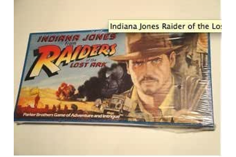 Amazon.com: Parker Brothers 1982 Indiana Jones and the ...