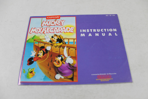 Manual - Disney's Mickey Mousecapade - Nes Nintendo