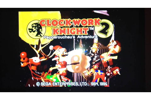 Sega Saturn Clockwork Knight 2 Christmas title screen ...