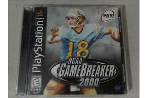 NCAA Gamebreaker 2000 Playstation One PS1 PSX Game ...