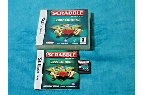 Scrabble Interactive 2007 Edition Nintendo DS Game ...