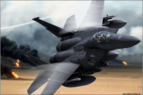 "F-15 Strike Eagle ""Burning Oilfields"" - a photo on Flickriver"