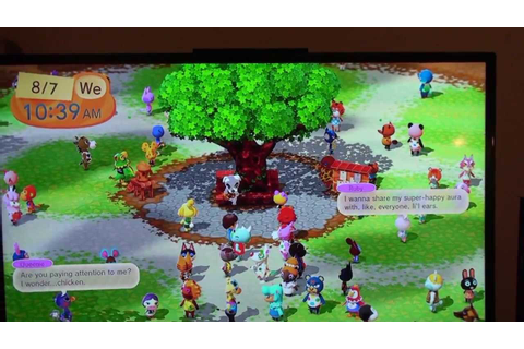 First Look at Animal Crossing Plaza on Wii U! - YouTube