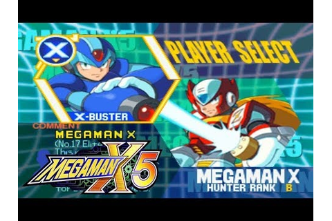 Mega Man X5 - Character Select - YouTube