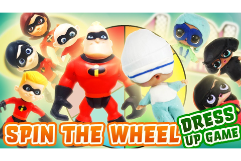 Incredibles 2 Movie Spin the Wheel Dress up Game w/ Play ...