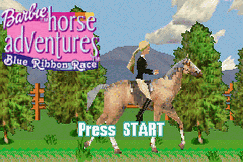 Play Barbie Horse Adventures - Blue Ribbon Race - Nintendo Game Boy ...