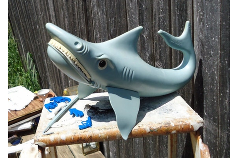 Jaws Shark Game 1975 by LadybugFuzzyRug on Etsy
