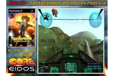 Review - Thunderhawk: Operation Phoenix - PS2 2001 - YouTube