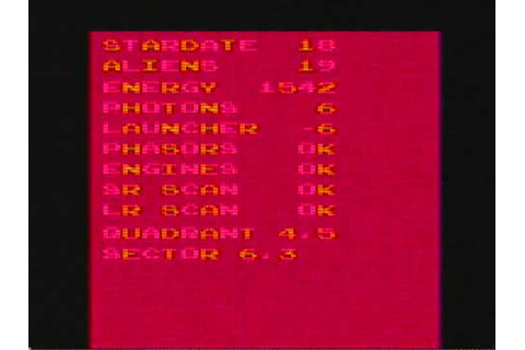 Atari 2600 Stellar Track (aka Star Trek) Tele-Games Game ...