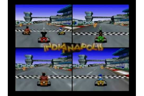 Mickey's Speedway USA N64 First Time Game Play 4-Players ...