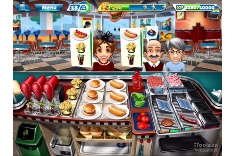 【Cooking Fever】Fast Food Court Level 40 (3 stars) - YouTube