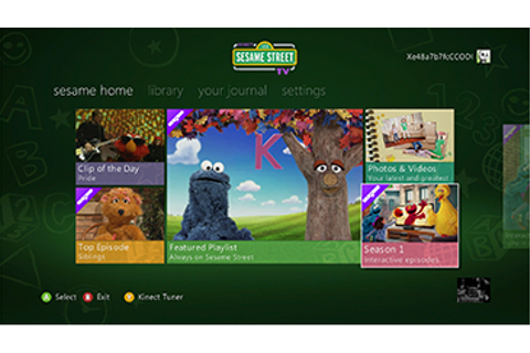 Set Up and Use the Kinect Sesame Street TV app on Xbox 360