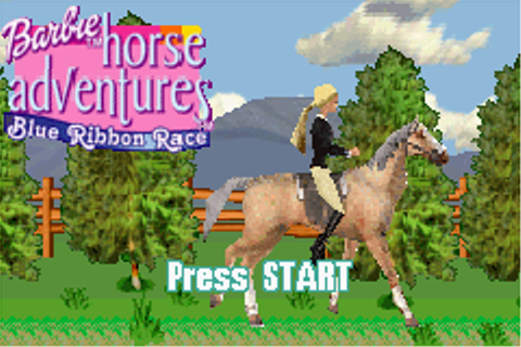 Barbie Horse Adventures - Blue Ribbon Race Online GBA Game Rom - Game ...