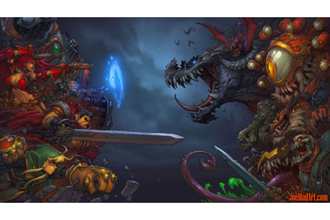 joemadart.com: Battle Chasers Nightwar game main ...