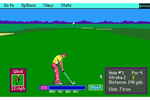 Download PGA Tour golf sports for DOS (1990) - Abandonware DOS