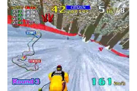 Model 2 Emulator Sega Ski Super G Gameplay - YouTube