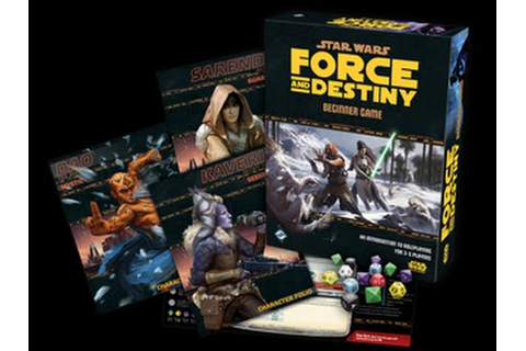 Star Wars: Force and Destiny Beginner Game Unboxing - YouTube