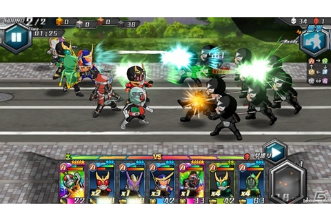 Kamen Rider Battle Rush Mobile Game Announced - Tokunation