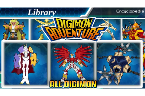 Digimon Adventure - 100% Encyclopedia All Digimon In The ...