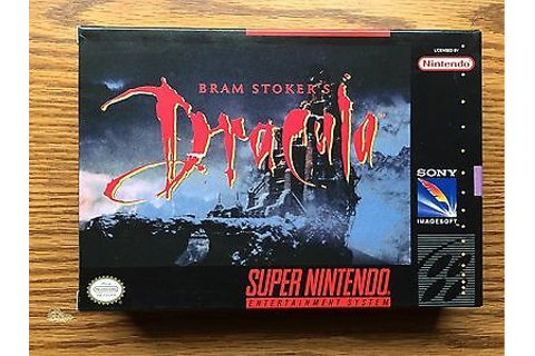 SUPER NINTENDO BRAM STOKERS DRACULA GAME WITH BOX ITEM ...