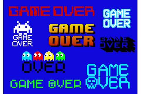 Free Game Over Vector - Download Free Vectors, Clipart ...