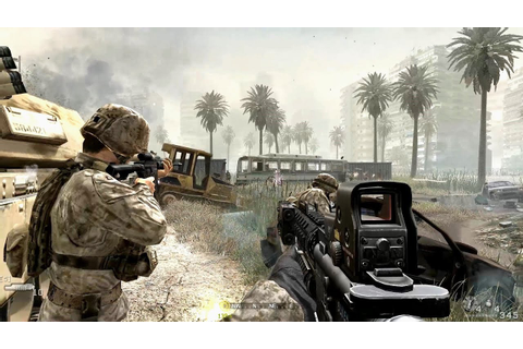 US Marine Corps in Heavy City Combat ! Call of Duty 4 ...