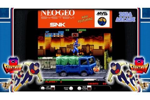 [EightMan 1991 Neo Geo SNK Reco y review Zona Arcade ...
