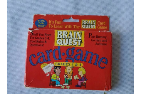 Brain Quest Card Game New Grades 3 & 4 | eBay