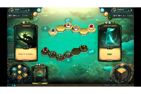 Faeria strategy card game gameplay - YouTube