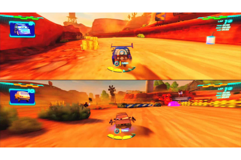Cars 2 Game Play 2 player split screen 002 - YouTube