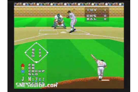 Super Bases Loaded 3: License to Steal - SNES Gameplay ...