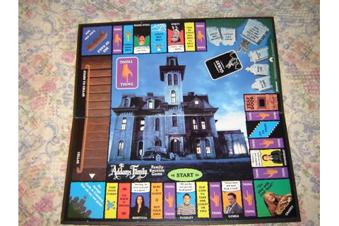 The Addams Family Family Reunion Board Game 1991 Halloween ...