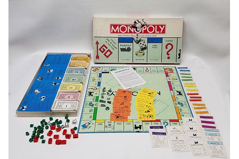 Vintage 1985 Parker Brother's Monopoly Board Game w/ 10 ...