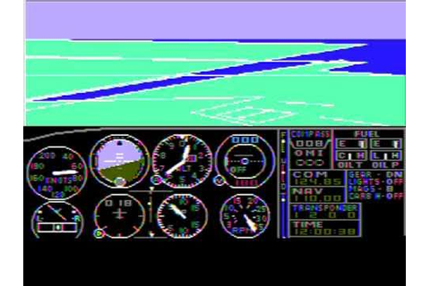 Microsoft Flight Simulator 1.0 (GamePlay video) - YouTube
